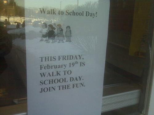 Crozet Walk to School Day - 19 February 2010