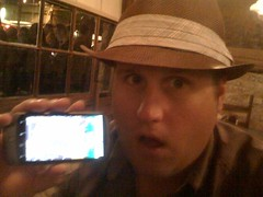 First time checking out a Nexus One. 1st impression? It's awesome. Here @geoffreyemery models it.