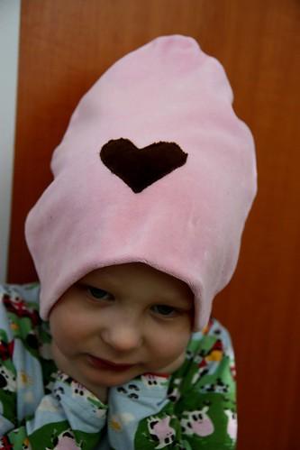 Niilo modelling a velour hat