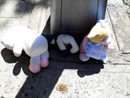 abandoned stuff animals
