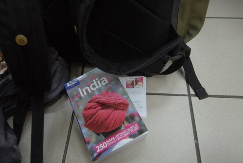 My last purchase in Indonesia: A guidebook for India.