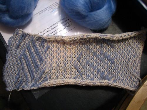 Pre-felted knit-weave sampler
