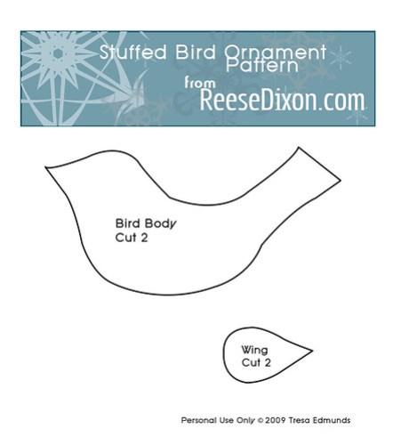 Fabric Bird Ornament Pattern