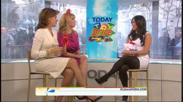 Jenna Ushkowitz (GLEE) talking about Sanrio's donation