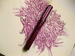 Purple Lamy & Moleskine Sketchbook by Gentian