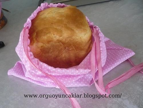 Ev yapımı ekmeğe, el yapımı ekmek torbası by you.