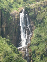 Waterfall in the hills, on the way to Kandy