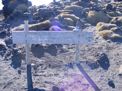 Warning Sign On the Tongariro Crossing