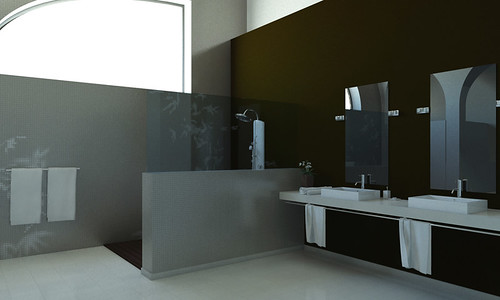 Ejercicio materiales y luz baño