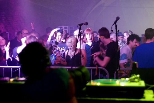 Crowd & Ballardian lady