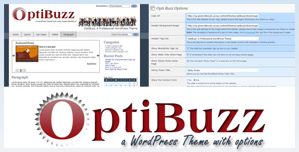 Optibuzz WordPress theme