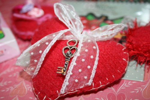Handcrafted Felted Heart-part of garland