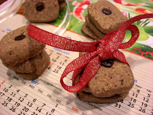 hazelnut and espresso cookies