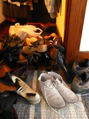 Sorting through shoes