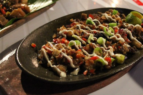 Sisig at Obsidian Bar and Grill