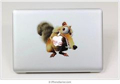Ice Age Squirrel On A MacBoook