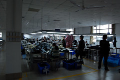 garment factory line