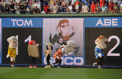 Racing presidents do the limbo at Nationals Park