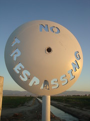 No Trespassing Art Sign