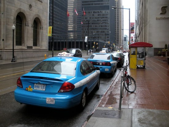 taxi on Toronto street