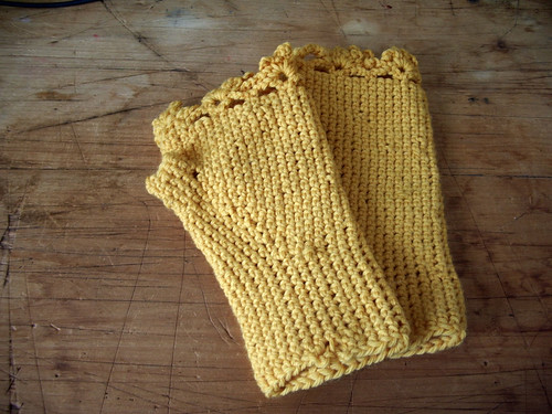 Fngerless Gloves - yellow