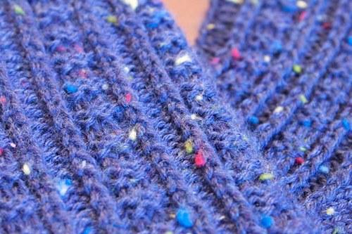 Retro Rib Socks: stitch pattern