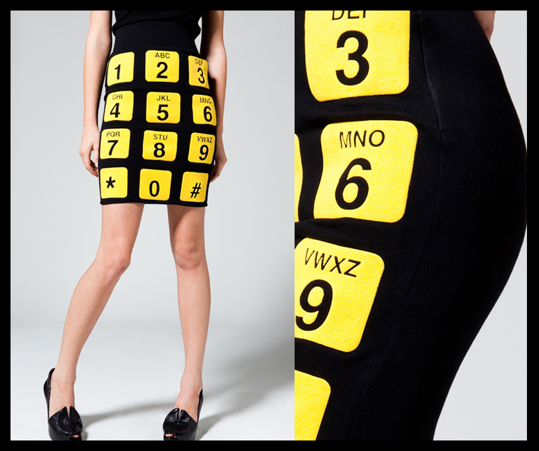 Phone Skirt in Black-Yellow Puff Binder