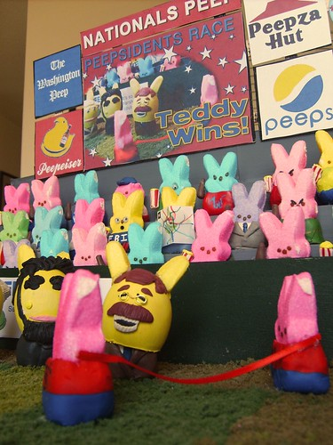 The nationals racing peepsidents are represented in a Washington Post peeps diorama contest entry