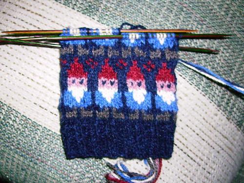 Gnome Mittens in Progress (4.17.10)