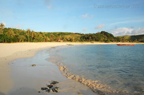 Mahabang Buhangin in the light of the setting sun, Calaguas Island, Camarines Norte