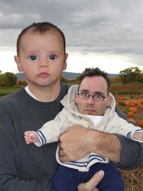 photoshop of son and father's face