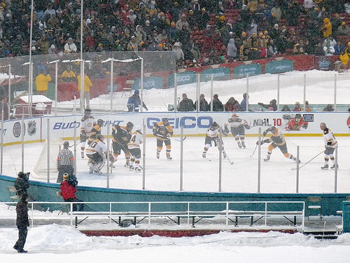 Old time hockey, played by old-timers