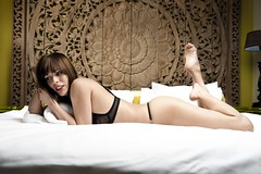 jacky on the bed