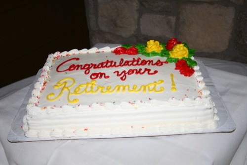 the retirement reception