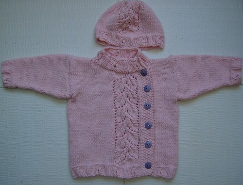 pink PeaPod baby sweater
