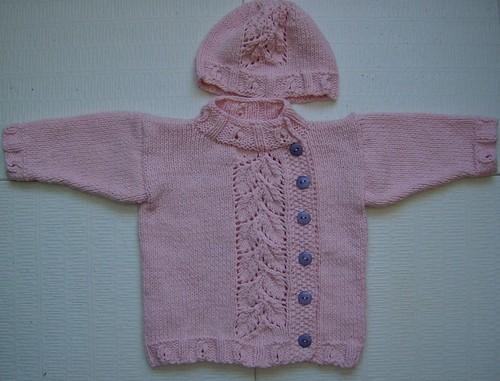 pink PeaPod baby sweater