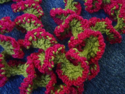 Spiral knit necklace