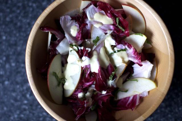radicchio apple and pear salad