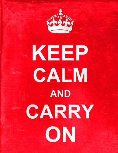 'Keep Calm and Carry On' faux vintage by Mad Maydel