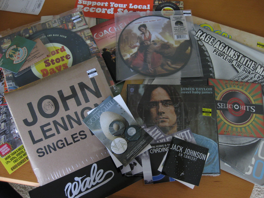 The spoils from Record Store Day 2010