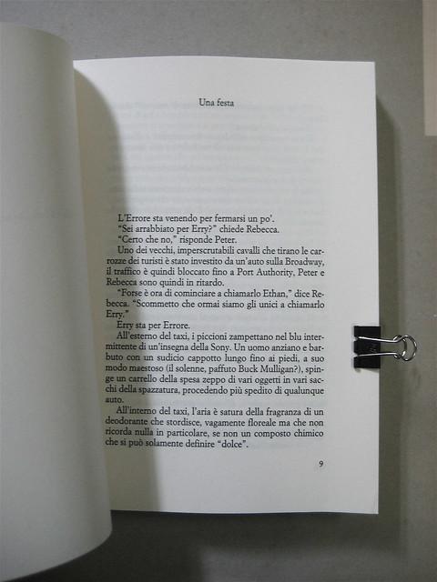 Michael Cunningam, Al limite della notte, progetto grafico di Polystudio, Bompiani 2010; incipit (part.), 1