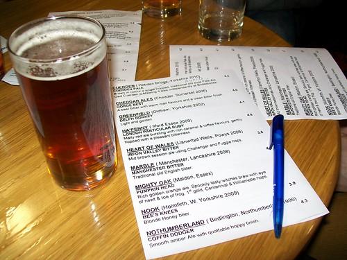 Beer & menu