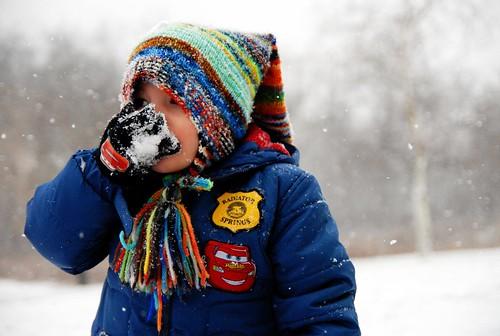 Eating Snow
