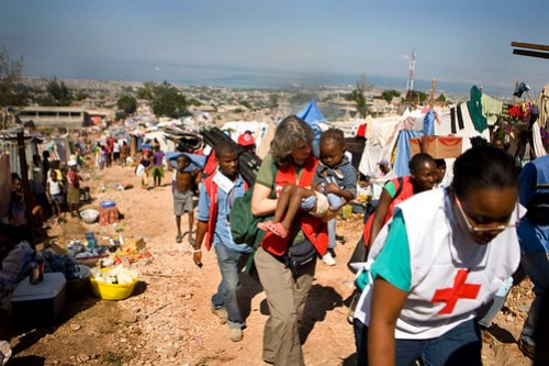 Red Cross Volunteer Winnie Romeril in Haiti