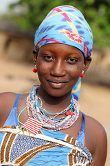 Fulani girl in Benin