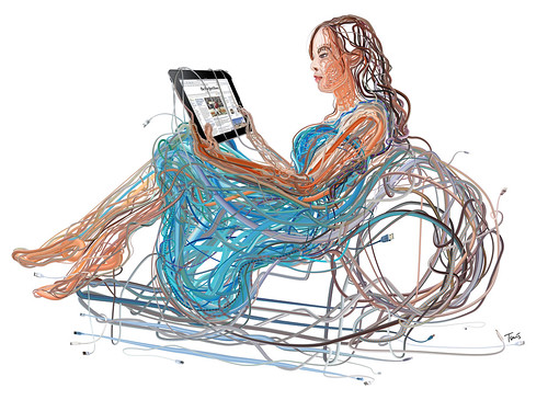 iPad Woman: The wired and wireless future of media and infotainment by tsevis.