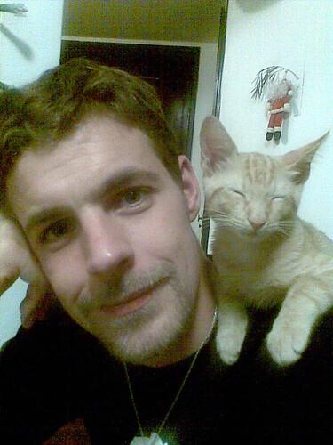Loki sleepy on my shoulder