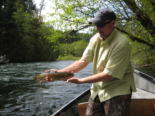 Tim Becker with Upper McKenzie River Rainbow