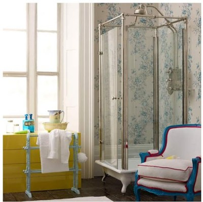 House of turquoise chair in bath