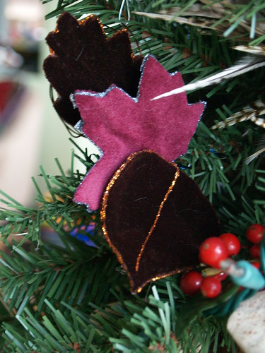 Velvet Leaf Ornament